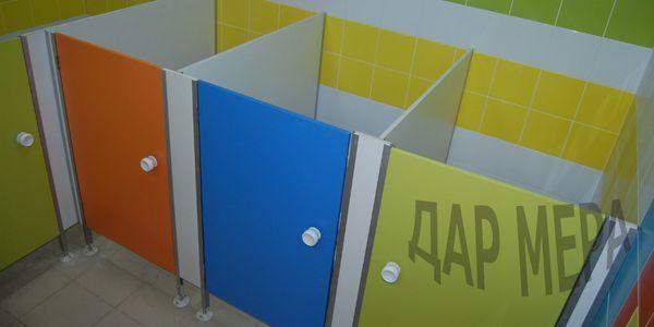 детские туалетные кабинки для школы